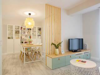 Salas de estilo  por UVE laboratorio de diseño, Escandinavo