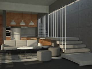 Villa,Khanapur:  Corridor & hallway by Ground 11 Architects