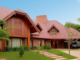 Rustic style houses by Delmondes Arquitetura e Interiores Rustic