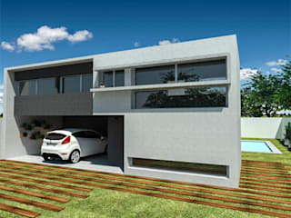 Casa FM: Casas unifamiliares de estilo  por Dinamismo Arquitectura,Moderno