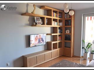 Ścianka telewizyjna CELLAIO od Cellaio - półki na książki Minimalistyczny