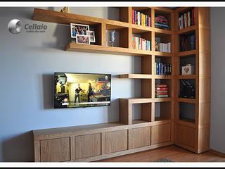 Ścianka telewizyjna CELLAIO od Cellaio - półki na książki Nowoczesny
