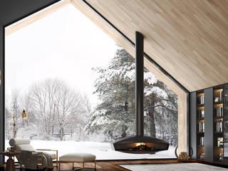 حديث  تنفيذ Shelter ® Fireplace Design , حداثي