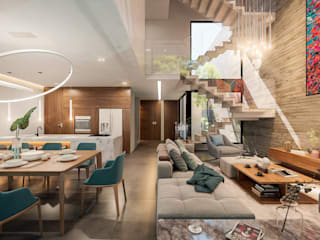 Casa Boreta Salones modernos de Álvarez Bernés Arquitectura Moderno