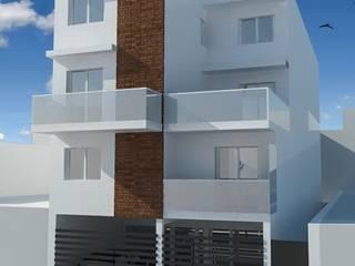 Edificio estrada: Casas multifamiliares de estilo  por Dinamismo Arquitectura,Moderno