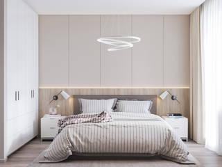 ЖК Мичуринский Спальня в стиле минимализм от Margarita Zenova Минимализм