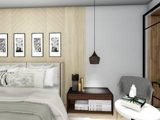 Residencia MR: Recámaras de estilo  por Bitácora