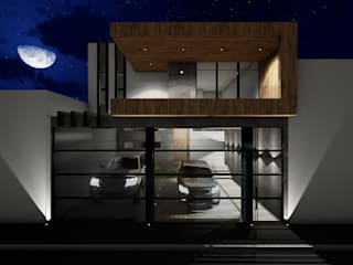 Residencia MR: Casas de estilo  por Bitácora