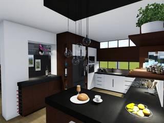 Residencia MR Cocinas modernas de Bitácora Moderno
