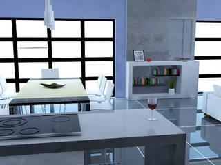 Departamento AK Cocinas modernas de Bitácora Moderno
