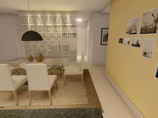 Cozinha em conceito aberto:   por Igor Cunha Arquitetura