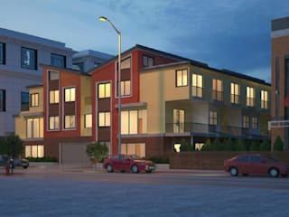 10-unit multifamily building architecture design Redwood City, CA:  Multi-Family house by S3DA Design, Classic