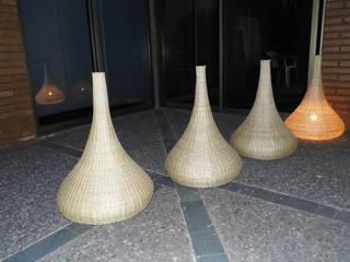 Iluminación - Lámparas de mimbre para usos centros comerciales de ELMIMBRE Spa - Diseño, Fabricación y Comercialización de productos en Mimbre - Región Metropolitana - Chile Rústico