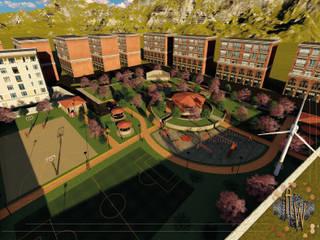 Proyecto de recuperación de Parque Urbano: Jardines de estilo  por Architectural Workshop,