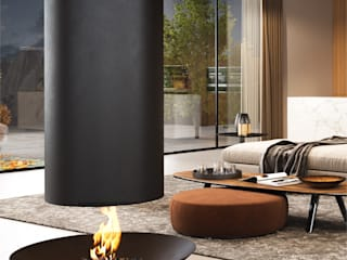 ​Under Plate — Settled Collection:   por Shelter ® Fireplace Design ,