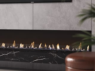 ​Nook Solutions — Lareiras a Bioetanol‎ :   por Shelter ® Fireplace Design ,