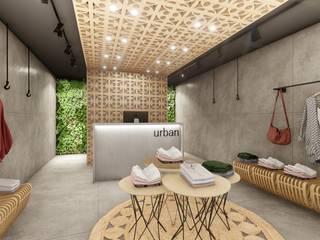 Loja Urban - Shopping: Lojas e imóveis comerciais  por 1LLAR Arquitetura,Tropical