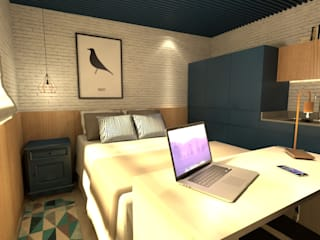 Revisite Modern style bedroom Blue