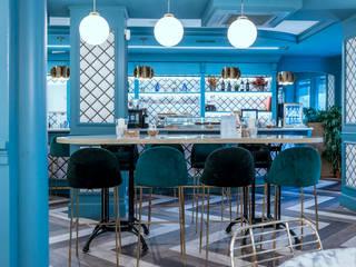 Diseño y decoración restaurante clásico vintage Madrid Bares y clubs de estilo moderno de Guille Garcia-Hoz, interiorismo y reformas en Madrid Moderno