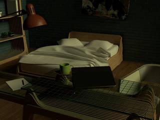 diseño habitación hotel:  de estilo  por MOB95 ,