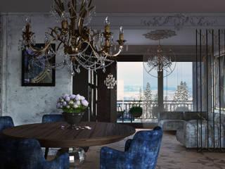 Апартаменты для двоих в Доломитах, Италия Appartamenti per coppie, Dolomiti.: Гостиная в . Автор – GK-STUDIO.RU