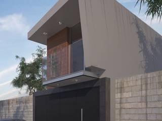 Diseño de casa habitación de casa de 165 m2 en Uruapan: Casas multifamiliares de estilo  por G+G ARQUITECTOS