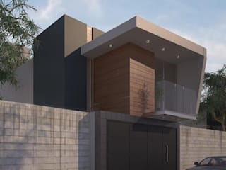 Diseño de casa habitación de casa de 165 m2 en Uruapan Casas minimalistas de G+G ARQUITECTOS Minimalista