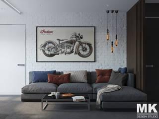 Частная квартира на Данилы Зверева: Гостиная в . Автор – MK-design studio, Лофт