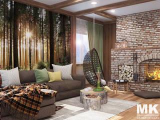 Дом: Гостиная в . Автор – MK-design studio, Рустикальный