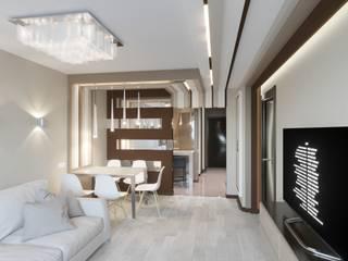Интерьер трехкомнатной квартиры в г. Саратов. Гостиная в стиле минимализм от F2project Минимализм