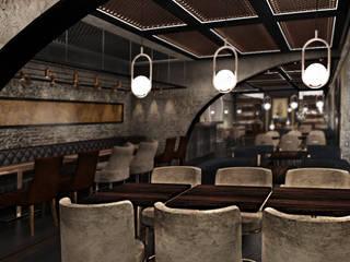 Old World Restaurant Deev Design Moderne bars & clubs Stenen Beige