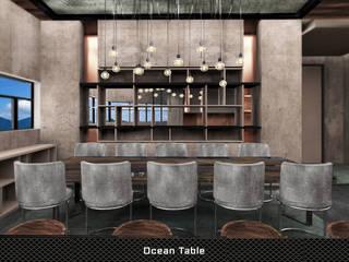 Ocean Table Deev Design Moderne eetkamers Koper / Brons / Messing Beige