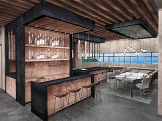 Ocean Table Deev Design Moderne keukens Koper / Brons / Messing Zwart