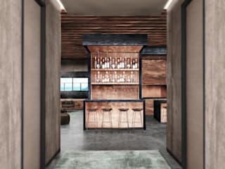 Ocean Table Deev Design Moderne gangen, hallen & trappenhuizen Koper / Brons / Messing Groen