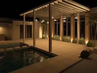 by Arq Eduardo Galan, Arquitectura y paisajismo Tropical