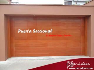 Puertas Automaticas - PERU DOOR Drzwi drewniane Drewno Brązowy