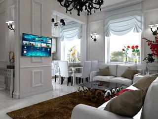 Квартира на Кутузовском Гостиная в классическом стиле от Студия Ольги Таракановой Классический