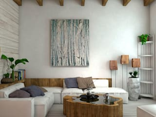 Country style living room by Студия Ольги Таракановой Country