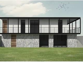 Casa García: Casas unifamiliares de estilo  por GRUPO QVICK