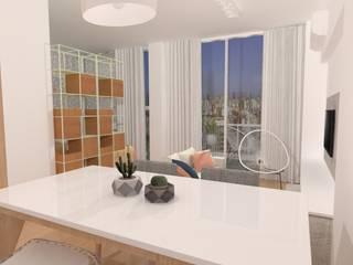 Scandinavian style living room by JOM Diseño de Espacios Scandinavian