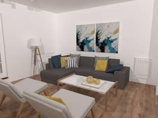 Diseño de Living-Comedor en Olivos Salones minimalistas de JOM Diseño de Espacios Minimalista