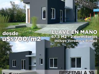 MOD SA: Casas ecológicas de estilo  por MOD CONSTRUCTORA SA