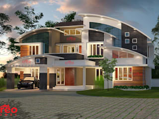 Architectural Designers in Kochi Asian style houses by CreoHomes Pvt Ltd Asian