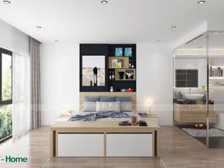 Công ty CP tư vấn thiết kế và xây dựng V-Home 臥室床與床頭櫃