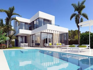 Villa de style  par VAQUERO&WORKGROUPS