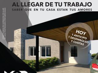 IMAGINATE: Casas de estilo  por MOD CONSTRUCTORA SA