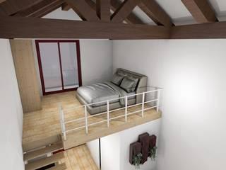 Quarto em mezzanine de madeira por R&U ATELIER LDA