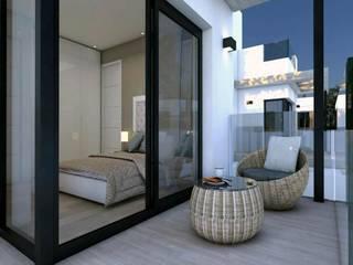 Petites chambres de style  par VAQUERO&WORKGROUPS