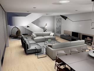 Decoração de interiores de Sala de estar e Jantar em Guimarães por R&U ATELIER LDA