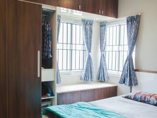 Bedroom interior design - HomeLane.com:   by HomeLane.com